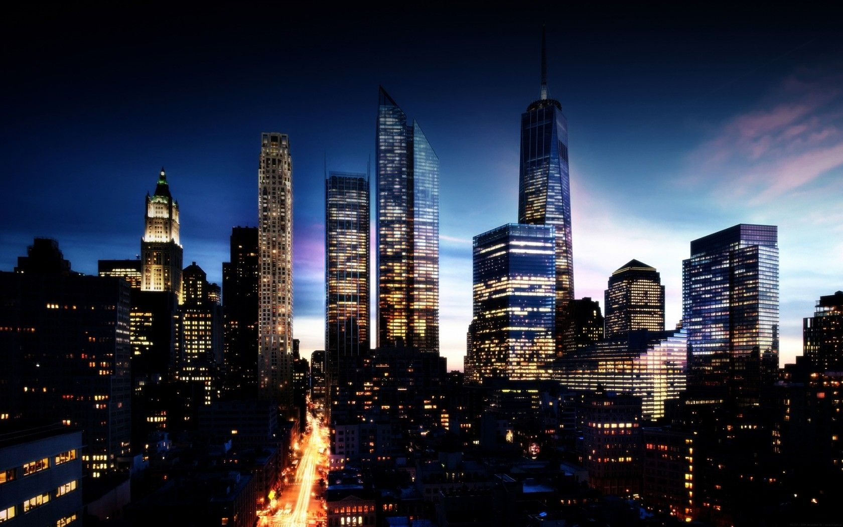 Night City Wallpaper Widescreen | Landscape Wallpapers | Pinterest ... for City Lights At Night Wallpaper  lp4eri