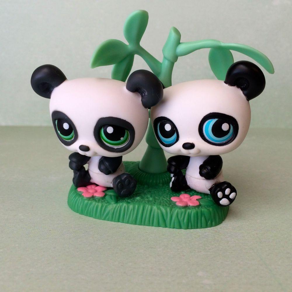 Littlest Pet Shop Pair Of Pandas 89 90 W Tree Accessory Free Shipping Hasbro Little Pet Shop Littlest Pet Shop Pet Shop