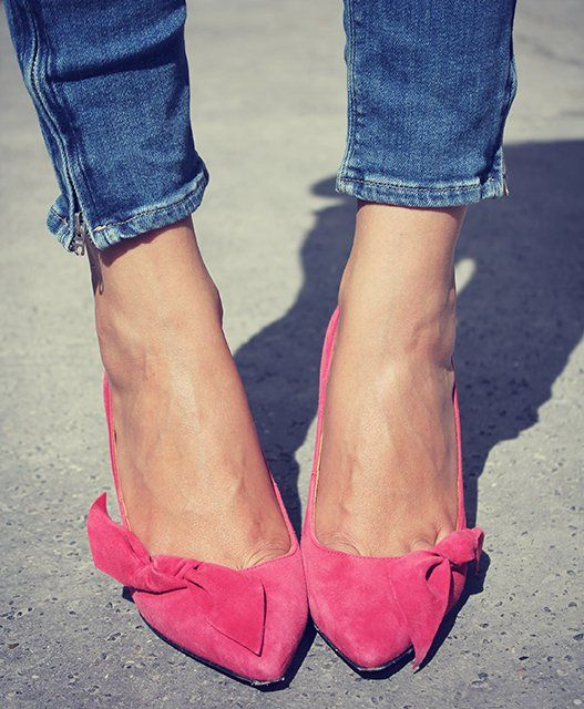 25cc7512d62 Fancy - Poppy Bow Suede Pumps by Isabel Marant