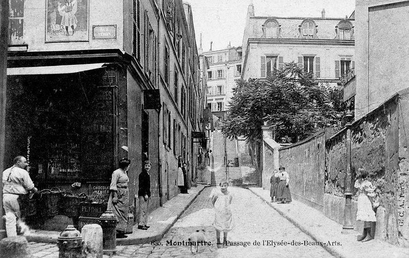 Passage de l 39 elys e des beaux arts paris 18 me rue andr - Rue des beaux arts ...