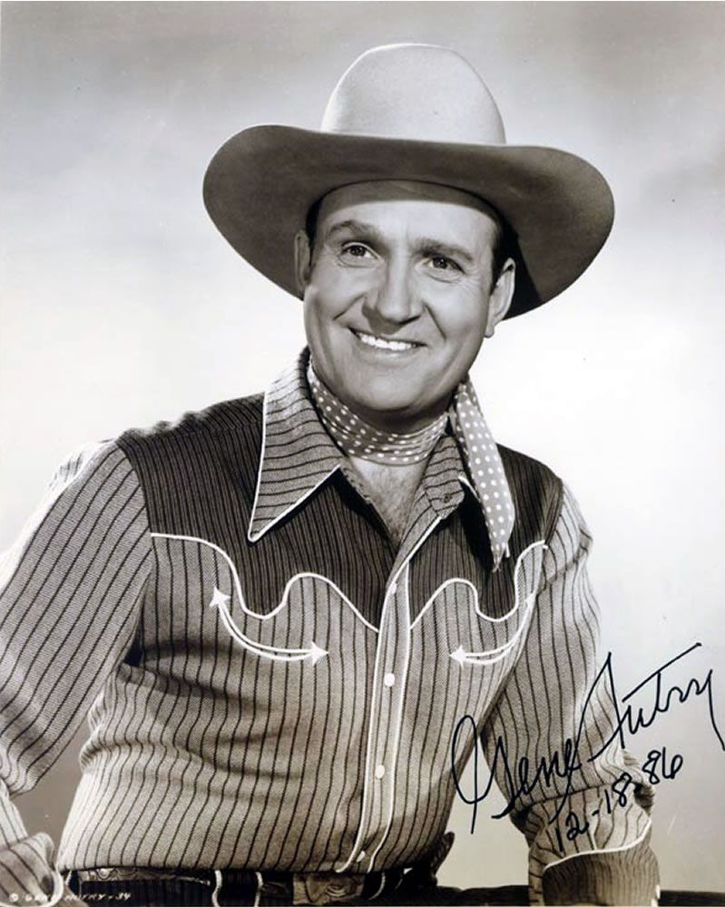 "Gene Autry, ""The Singing Cowboy"" of the 1940s-50s. 