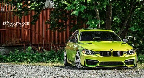 Bmw F30 3 Series Lime Green Bmw Bmw Car