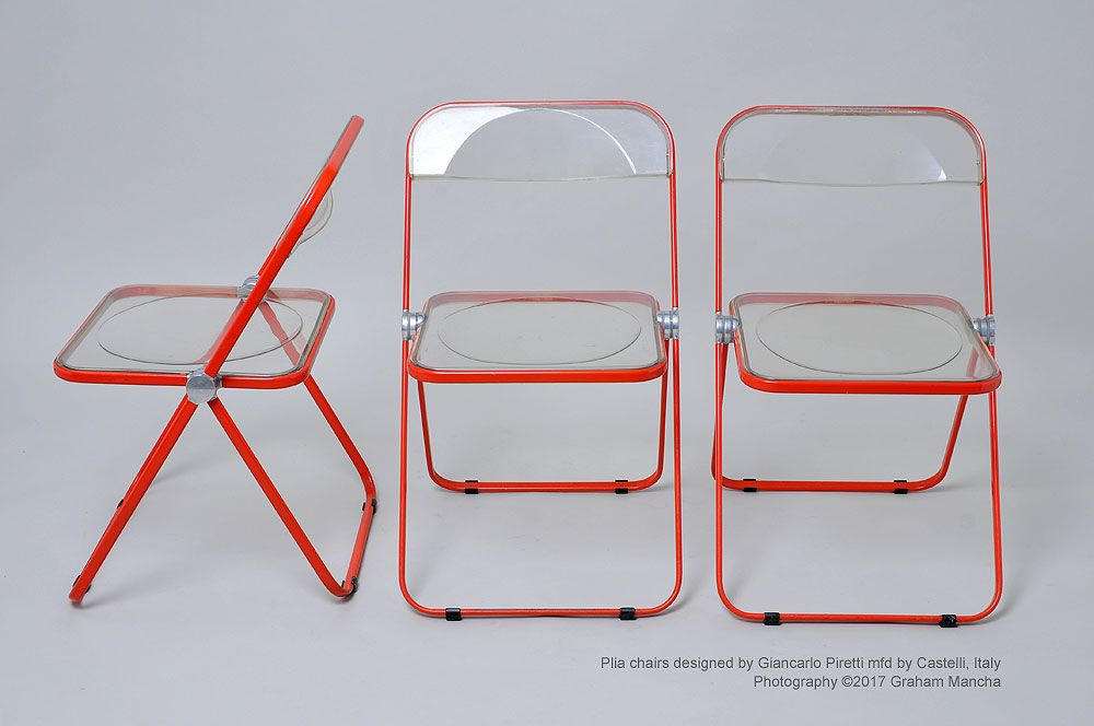 Plia Chair Designed By Giancarlo Piretti Steel Frame With A