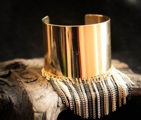 gold fringed cuff