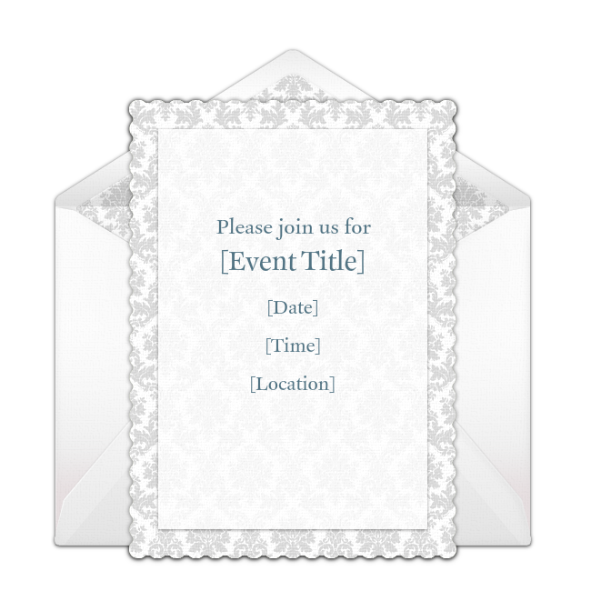 Customizable, free Regal Border online invitations. Easy to personalize and send for a party. #punchbowl