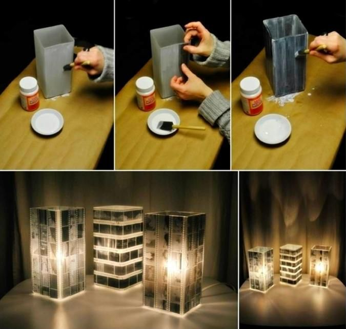 Como hacer lamparas caseras originales Decoracin Pinterest