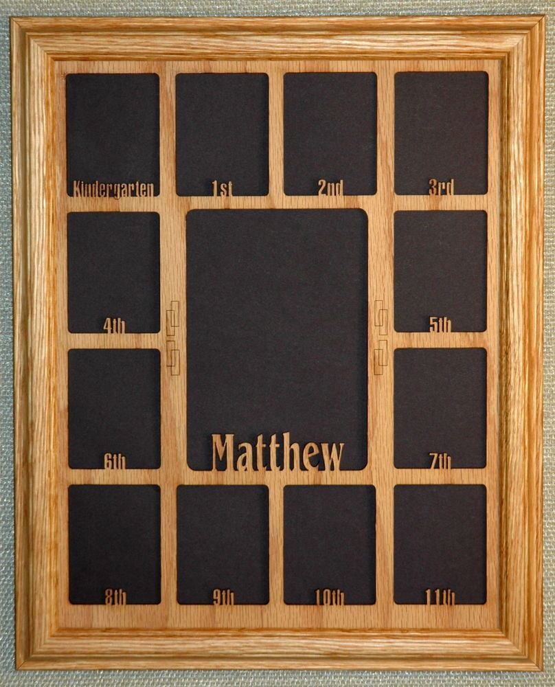 11x14 School Years with Name Collage Picture Frame Mat