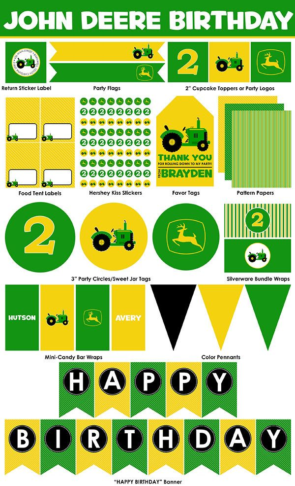 photograph about John Deere Printable known as Pin upon John Deere Birthday Designs