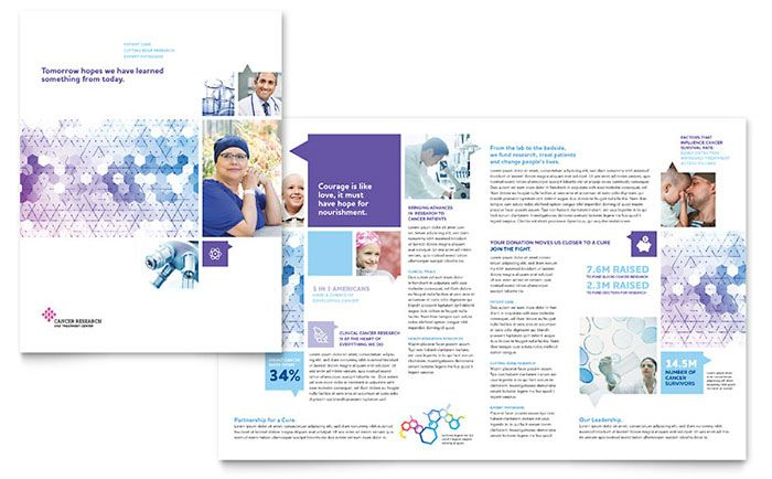 cancer treatment brochure template design by stocklayouts