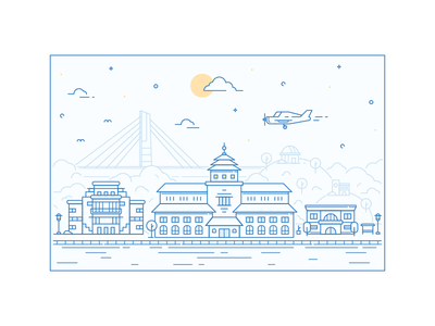 Landmarks In Lines Bandung City Icon City Branding Book Projects