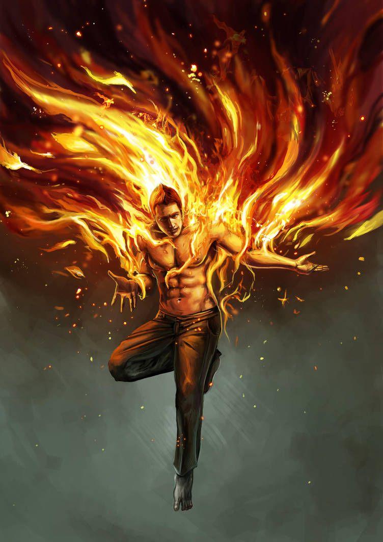 огненный парень картинки первой фотографии хвост