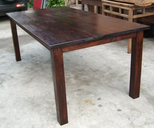 Paul S Antiques Solid Reclaimed Teak Dining Table Teak Dining Table Custom Made Furniture Teak Furniture