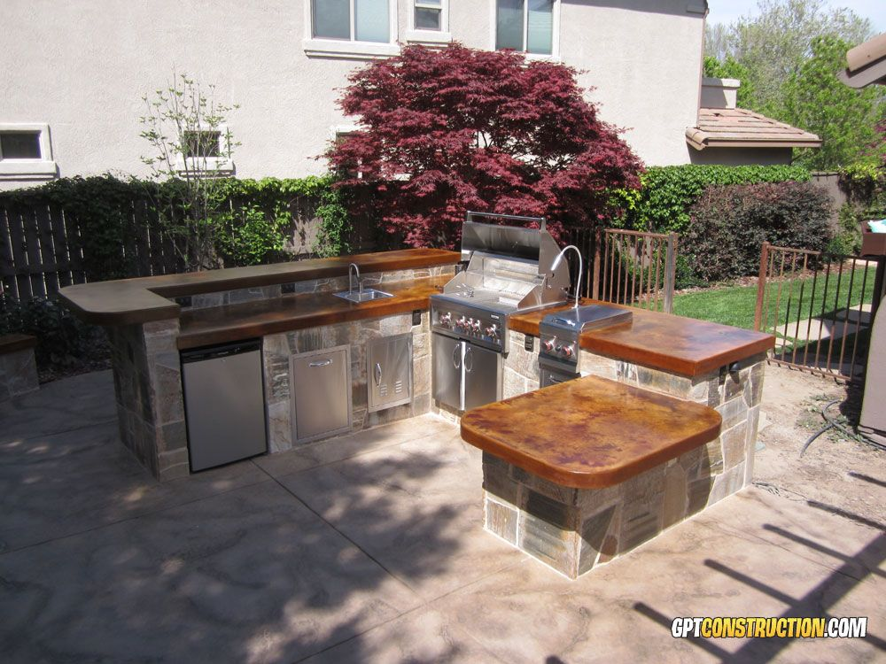 Image result for outdoor kitchen and bar home backyard for Backyard barbecues outdoor kitchen