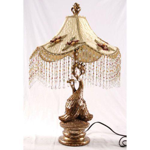 Gorgeous Vintage Style Bordoir Peacock Table Lamp So Chic