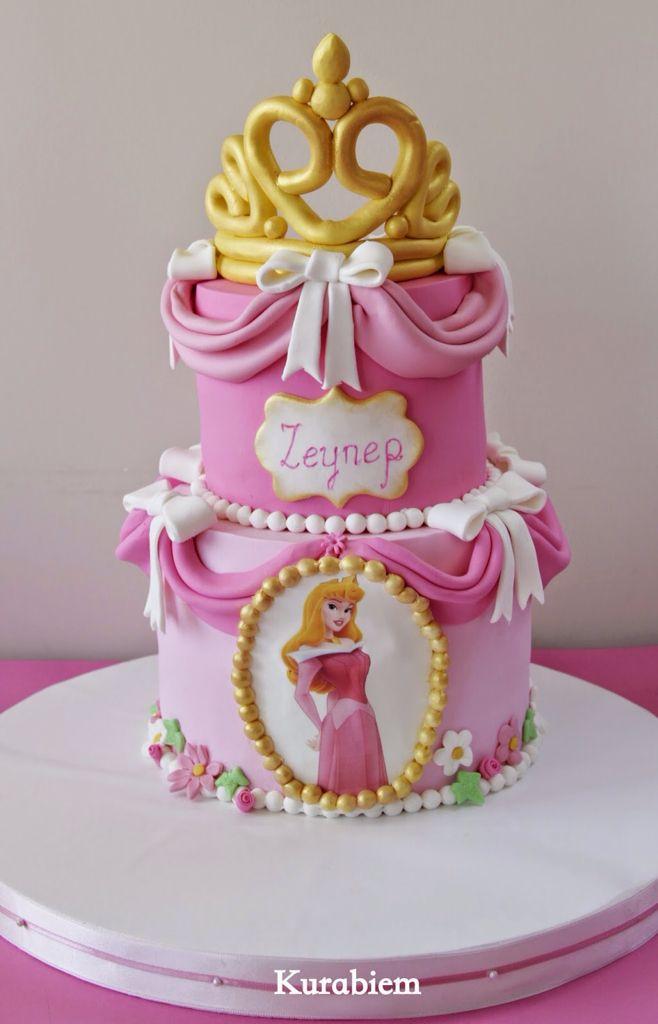 Magnificent Sleeping Beauty Cake Uyuyan Guzel Pastasi Prenses Pasta Personalised Birthday Cards Paralily Jamesorg