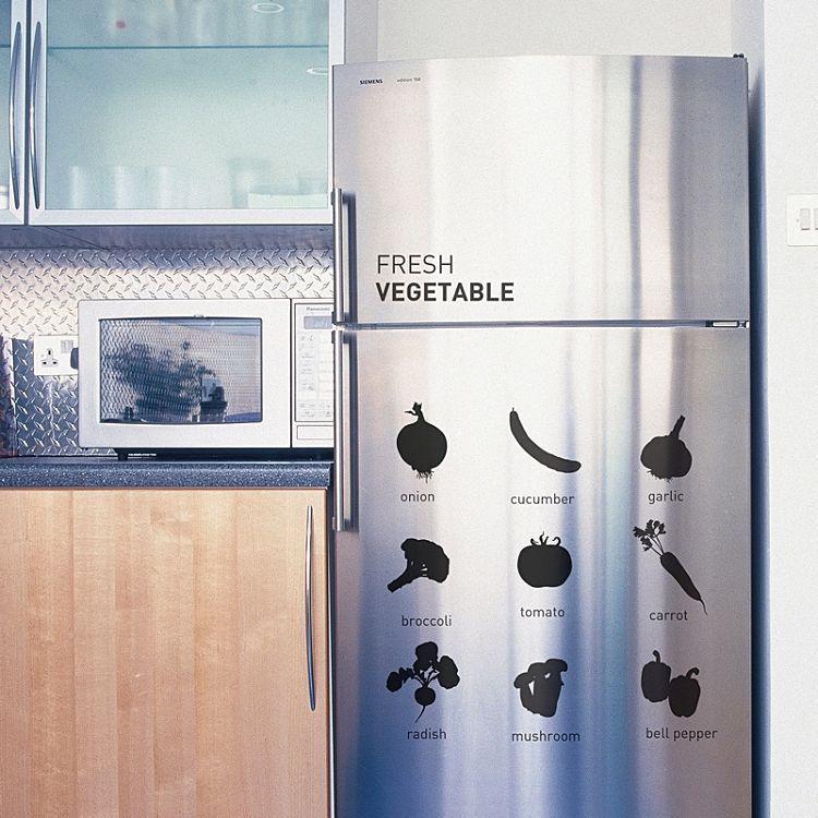 貼るだけで出来る 冷蔵庫のお洒落なリメイク実例アイデア集 15選 Weboo ウィーブー おしゃれな大人のライフスタイルマガジン 冷蔵庫 おしゃれ 冷蔵庫 アイデア