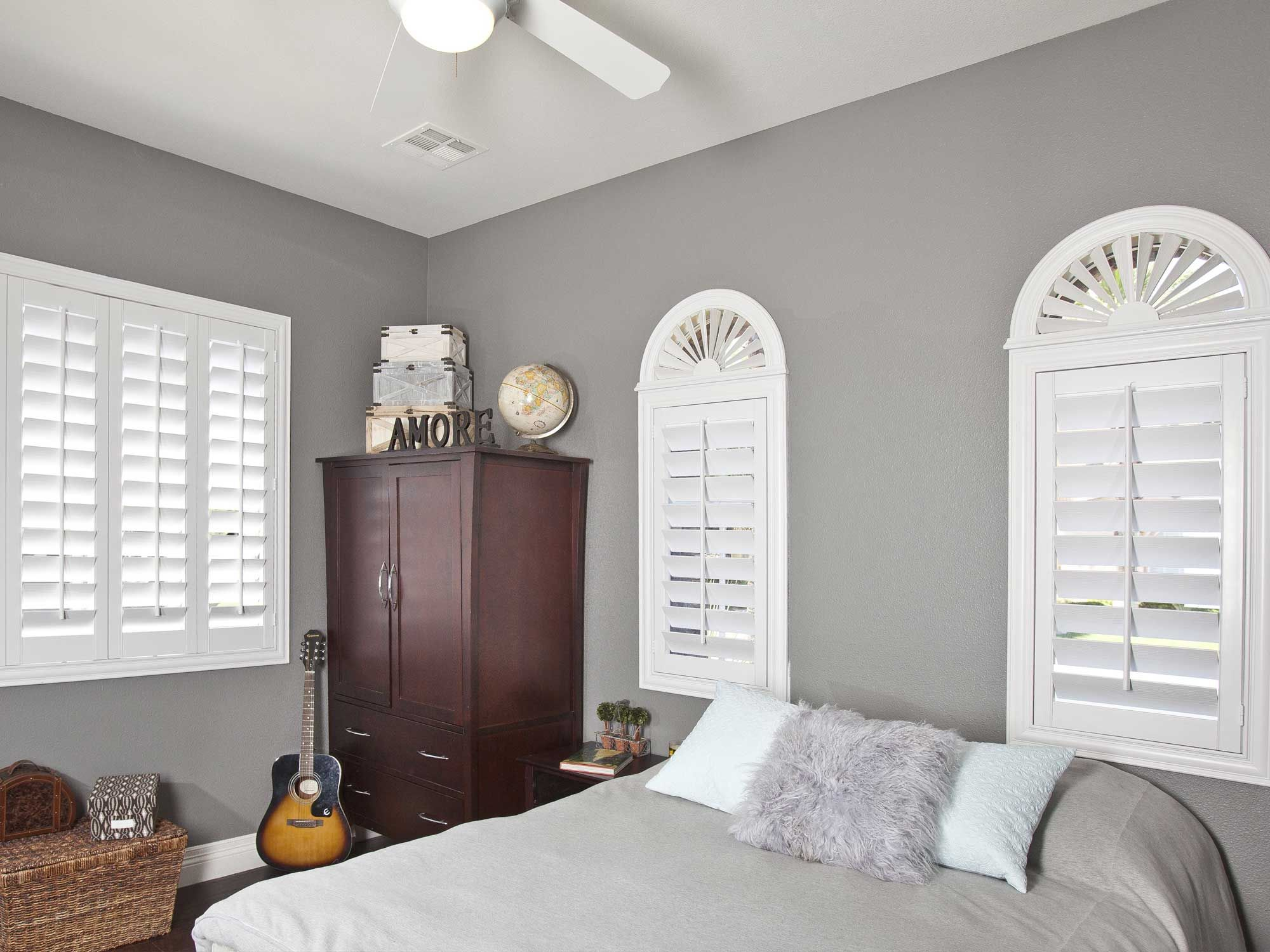 Window treatments for eyebrow windows - Window Covering Ideas Inspiration Arched Windows With Polywood Shutters