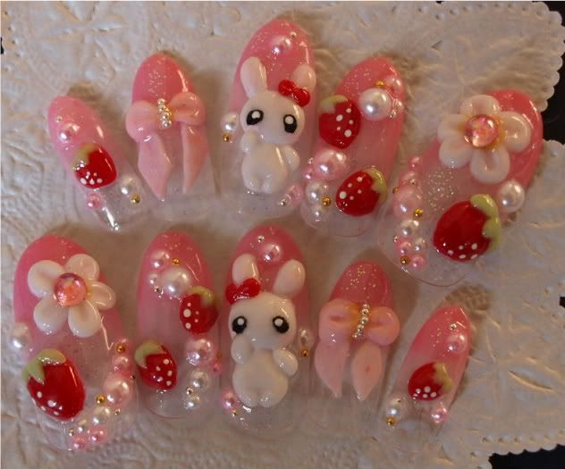 Bunnies, strawberries, bows, pearls and daisies | Artsy | Pinterest ...