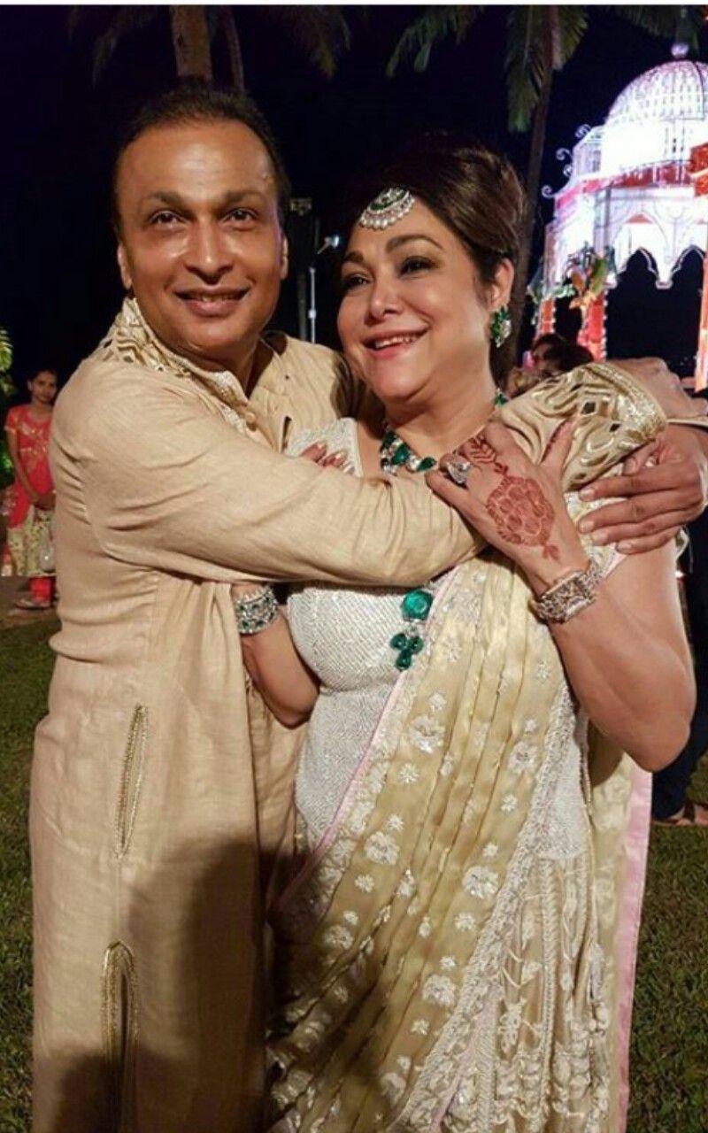 Anil Ambani With His Beautiful Wife Tina