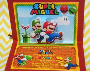 Convite Super Mario 3D