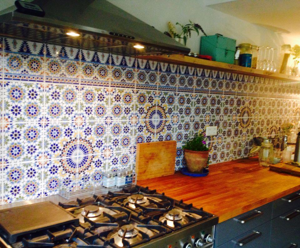 Marokkaanse Ikea Vloertegels : Onze nieuwe keuken kastjes en blad ikea tegels depot du maroc en