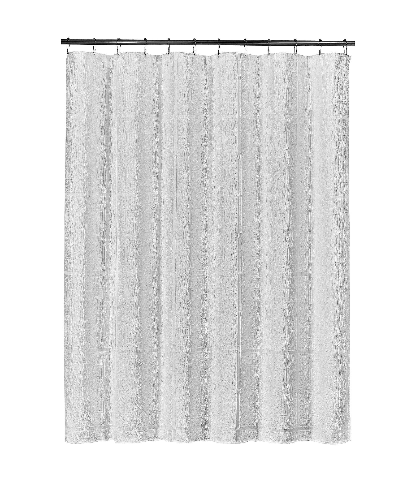J Queen New York Corina Shower Curtain Taupe N A Queens New