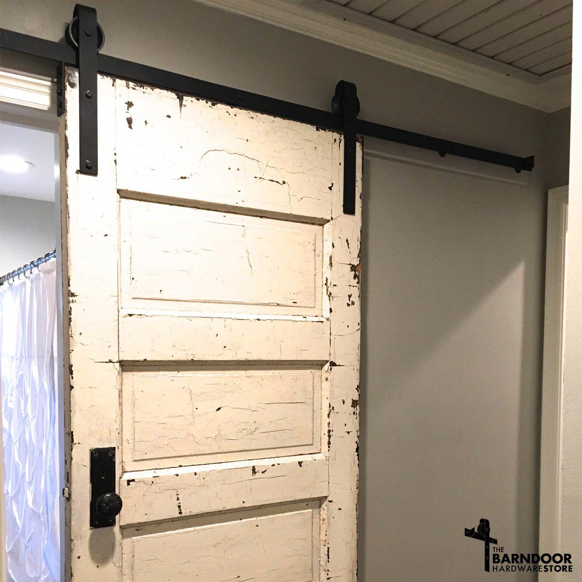 Our custom barn door hardware kit option lets you choose - Exterior sliding door hardware kits ...