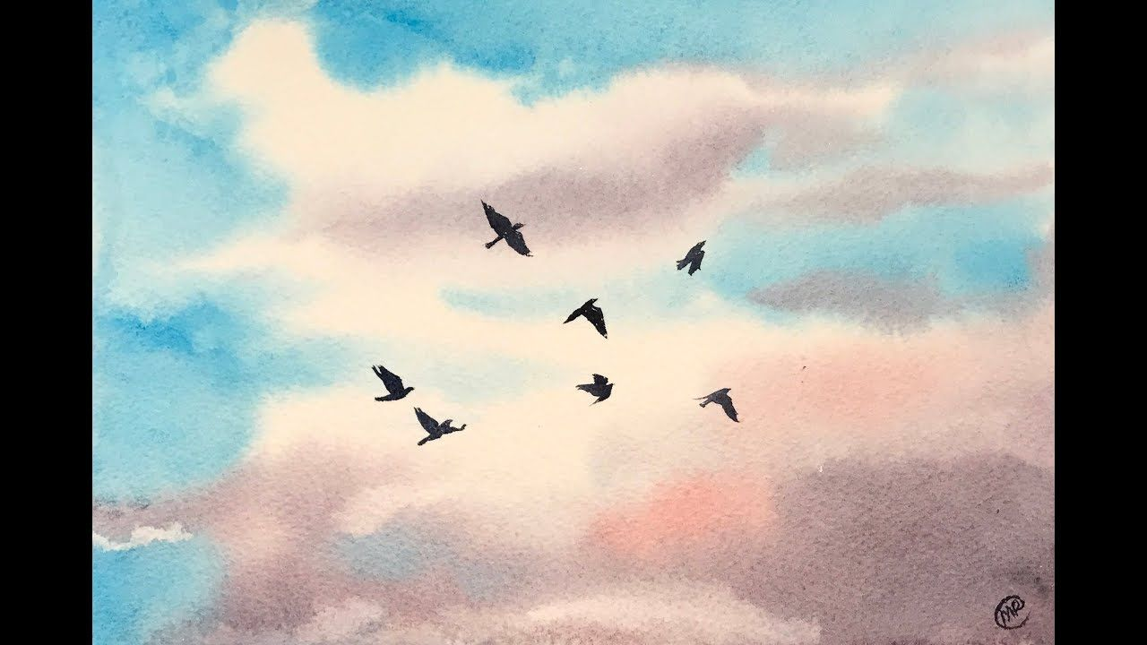 Beginners Watercolors Easy Sky Painting Tutorial With Images