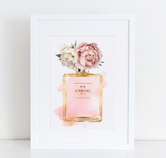pivoine rose aquarelle aquarelle effet or affiche de With affiche chambre bébé avec parfum fleuri oriental