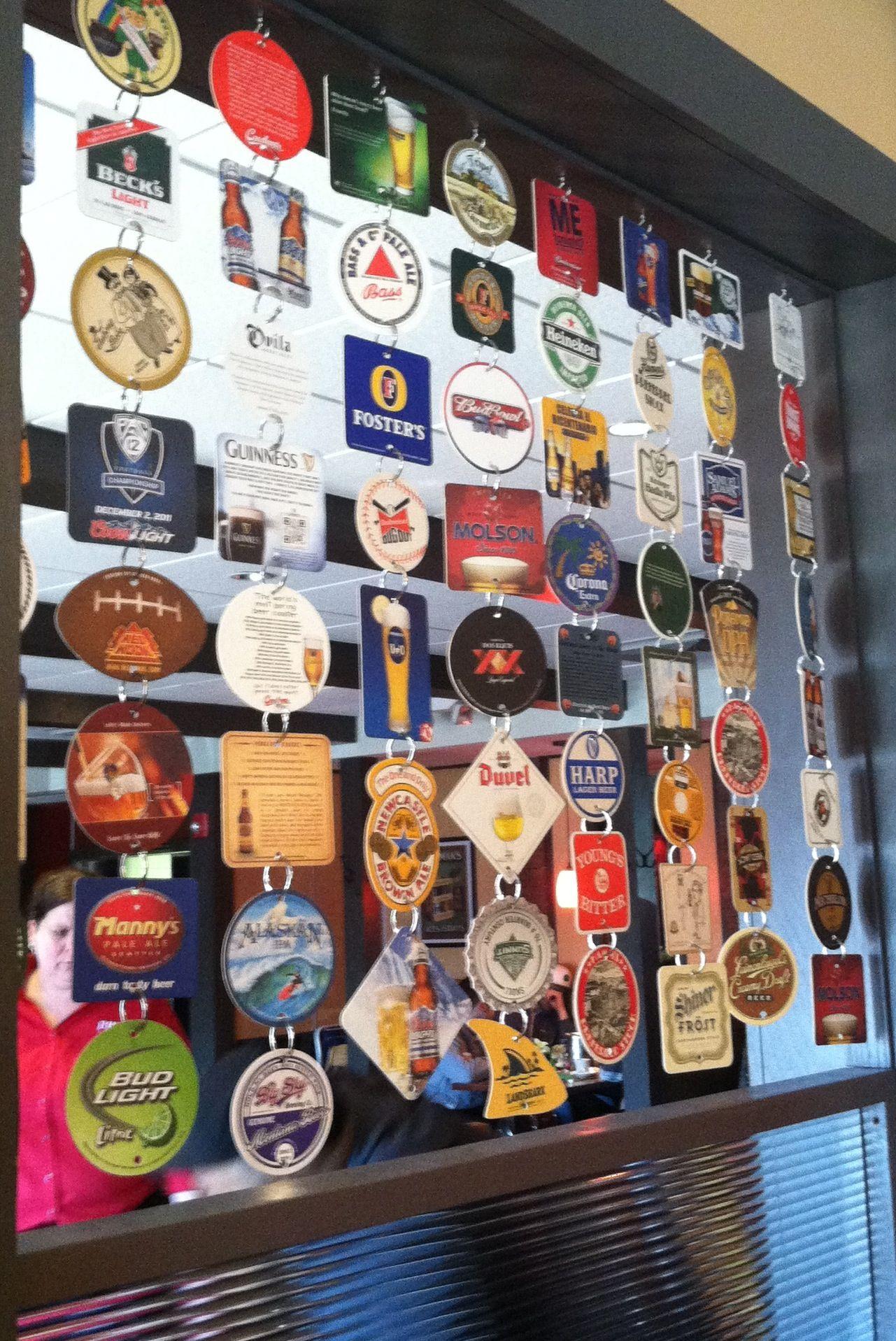 Craft Beer Coasters As Room Dividers Or Window Focal Interest