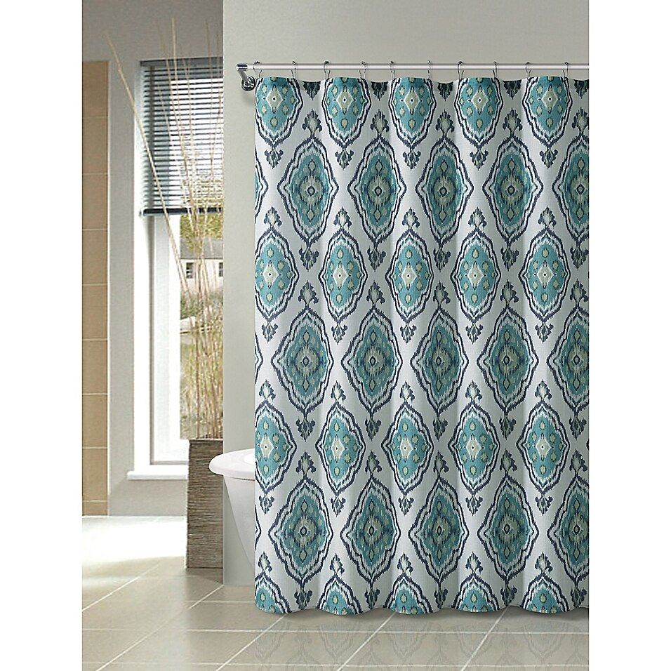 Vcny Home 72 Inch X 72 Inch Westin Ikat Medallion Shower Curtain