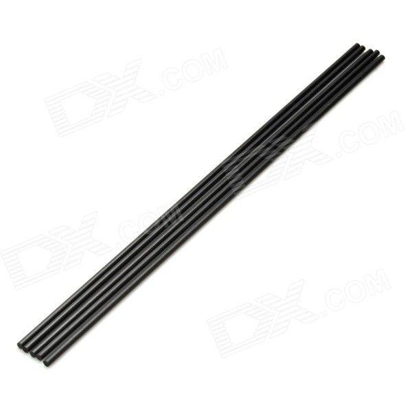 DIY 2.5 x 200mm Carbon Fiber Rod for Aircraft Model - Black (5 PCS). Suitable for sand table model, model aircr