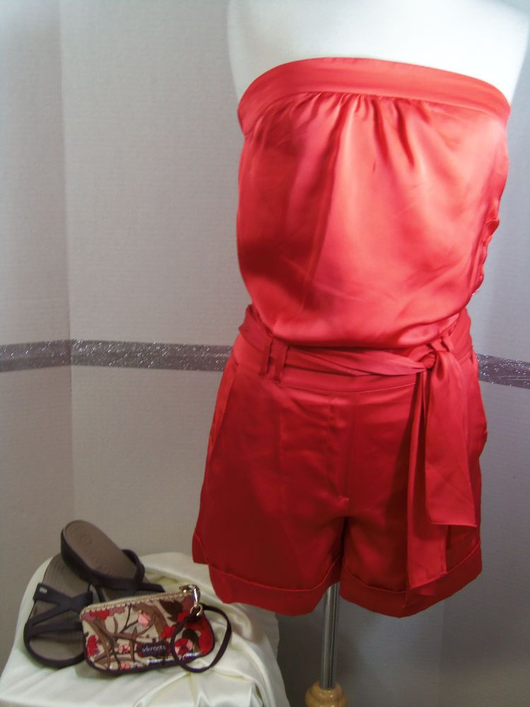 e1cd5b4618af Limited Shorts Romper Dark Mango Size XS NWT Crocs Strappy Sak Roots  wristlet  TheLimited