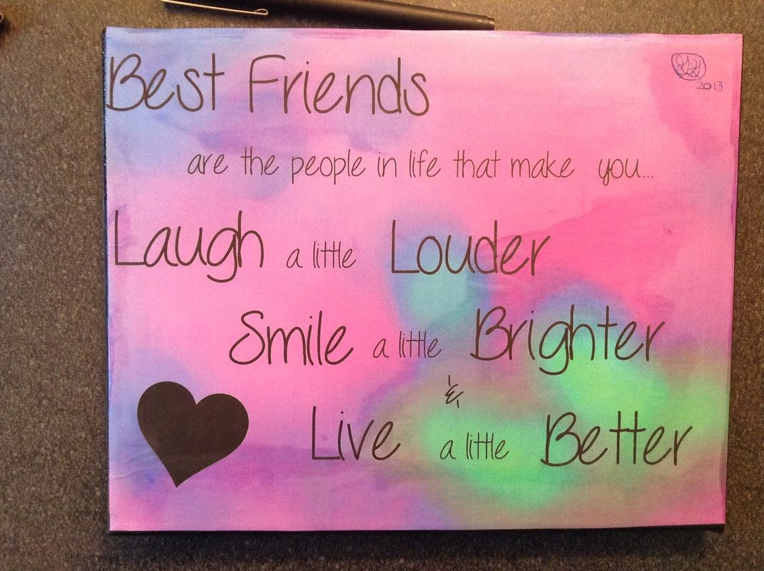 Best friend paintings google search art pictures for Easy presents to make for friends
