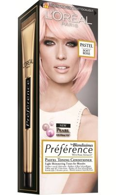 rosa hårfärg loreal