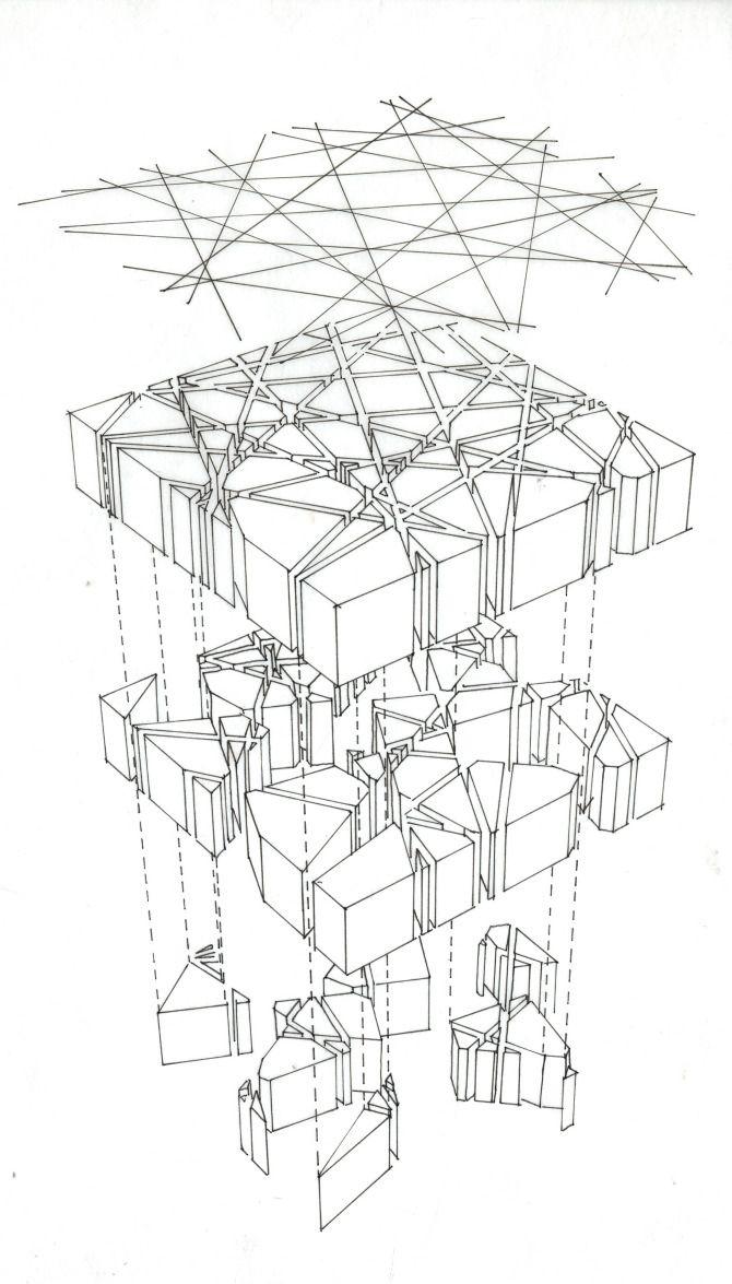 Toyo Ito and Cecil Balmond  Serpentine Pavilion 2002  London    Rep      Diagram      Concept