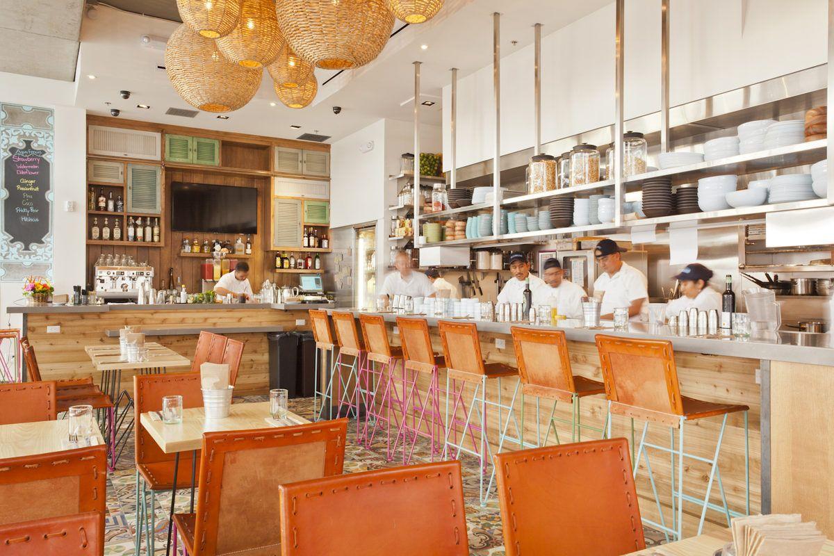 Restaurant Interior Design Orange A Good Pop Color For Grey And