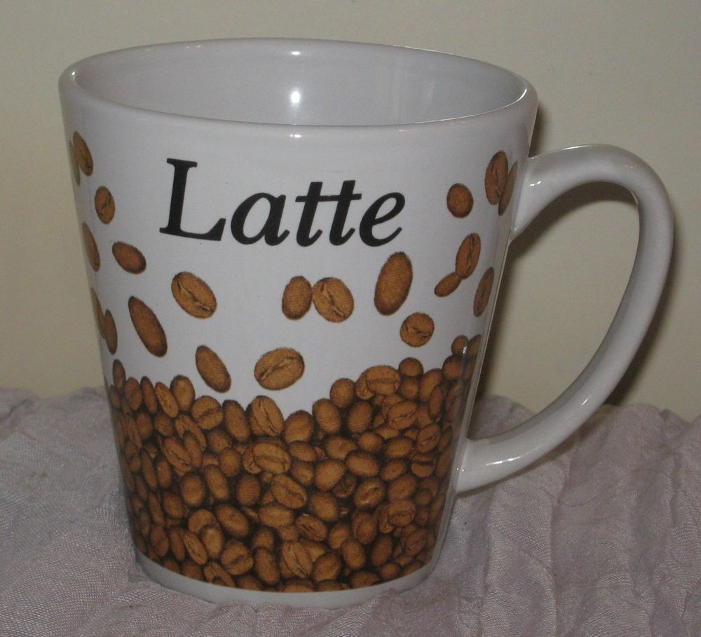 Details About Trisa Stoneware Latte Coffee Mug Cup 10 Oz Beans Rare Dh64 Mugs Cappuccino Coffee Coffee Mugs