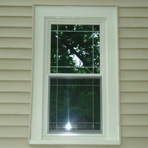 Double Hung Window With Prairie Grids Prairie Style Windows Windows Windows Exterior
