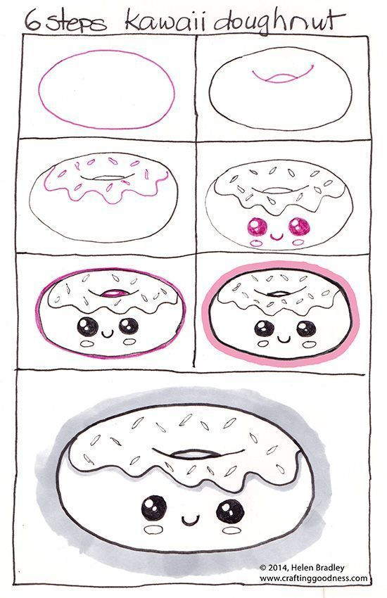 Wie zeichnet man ein Kawaii Donut - #Donut #one #Kawaii #man #How #draw -   # -   Wie zeichnet man ein Kawaii Donut - #Donut #one #Kawaii #man #How #draw -   # -  Drawing iDeas      The follow-up method for drawing is as follows: 1- Find a drawing or a photo (the ones with clear lines give better results). 2- Cover the photo with a thin paper so that you can see the original image. 3- Go over the lines you can see.
