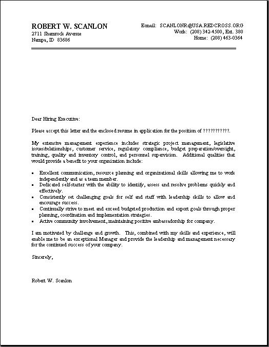 Cover Letter Format For Resume  HttpJobresumesampleCom