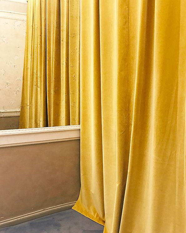 Velours Yellow Curtains In 2019 Houten Jaloezieen Interieur En