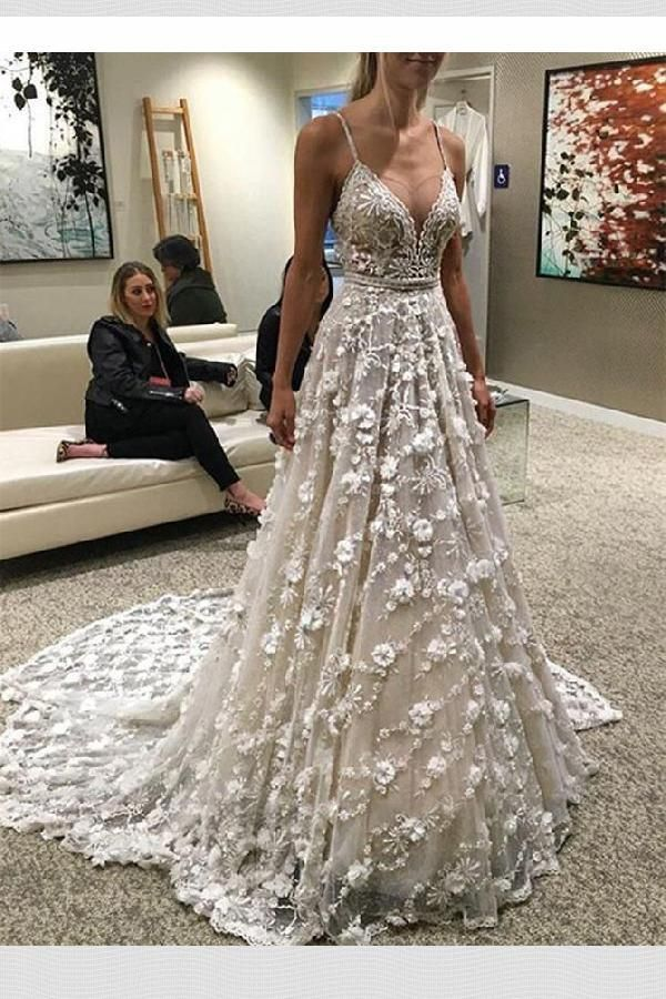 Customized Comely Backless Ivory In 2019 Wedding Dresses