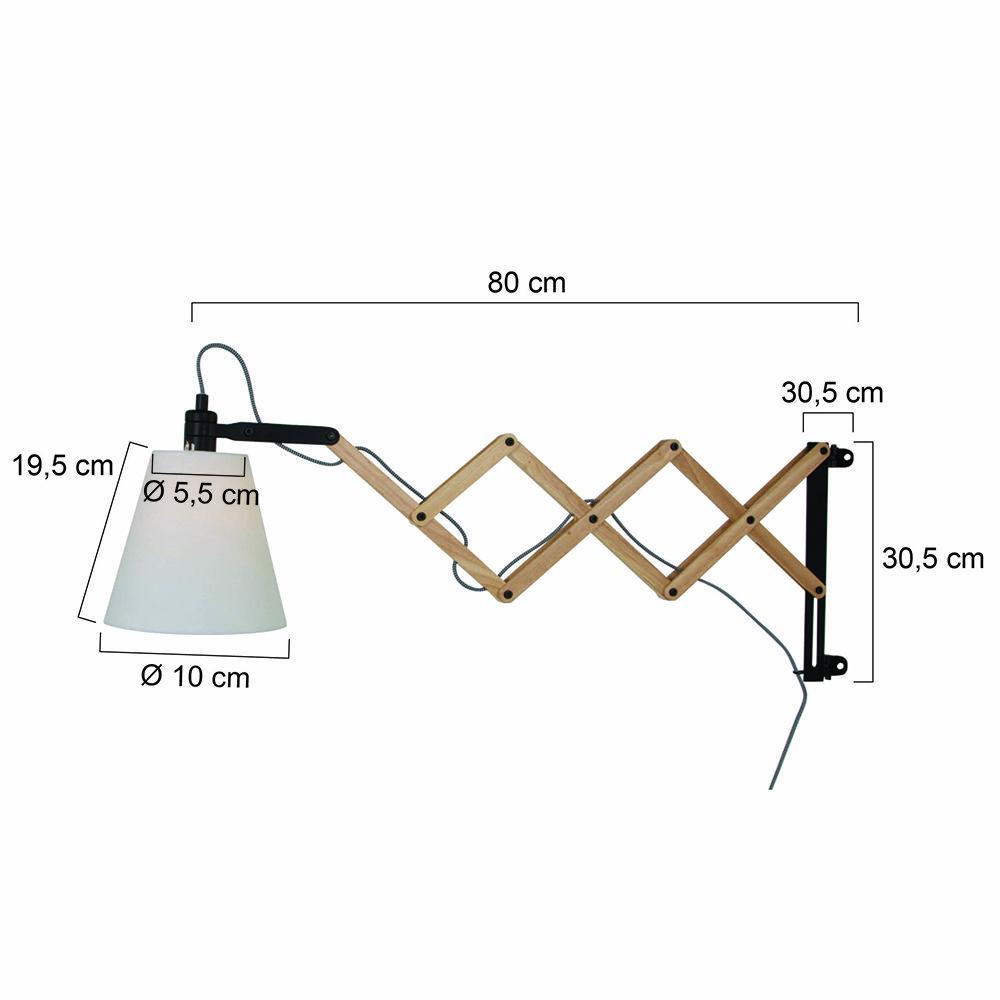 Wonderlijk Houten landelijke wandlamp schaarlamp. De houten wandlamp 'Livvy AQ-69