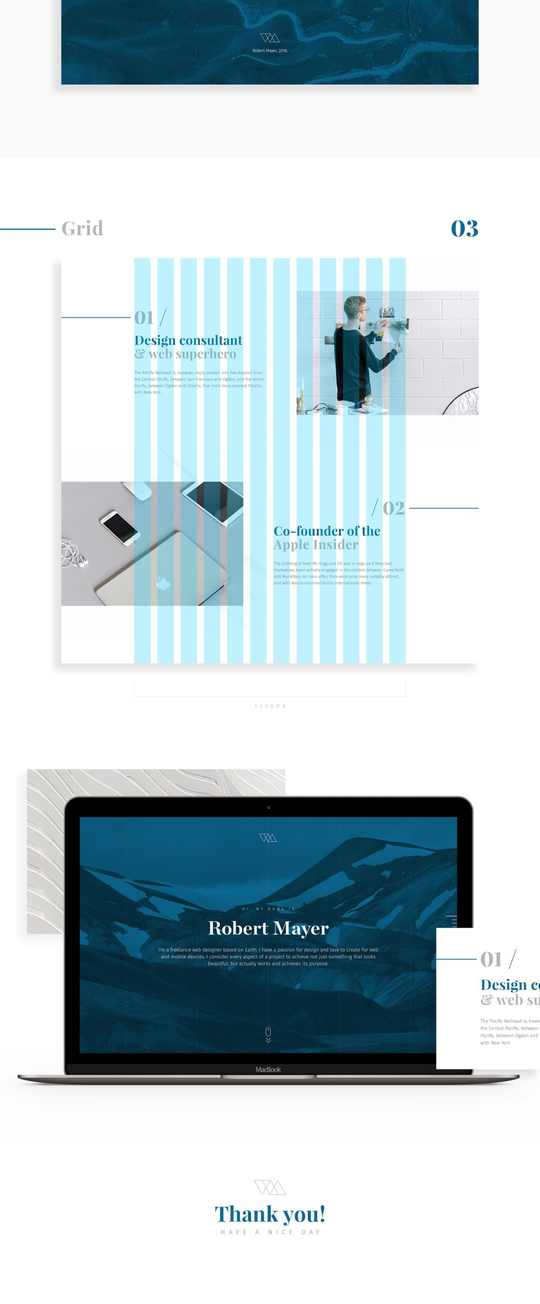 Get this minimalist PSD template to present your artworks or graphic ...