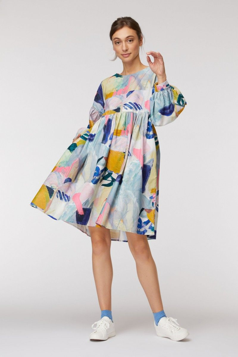Come Up Here Smock Dress Gorman Gorman Online Bright Fashion Bright Outfits Colorful Fashion [ 1200 x 800 Pixel ]