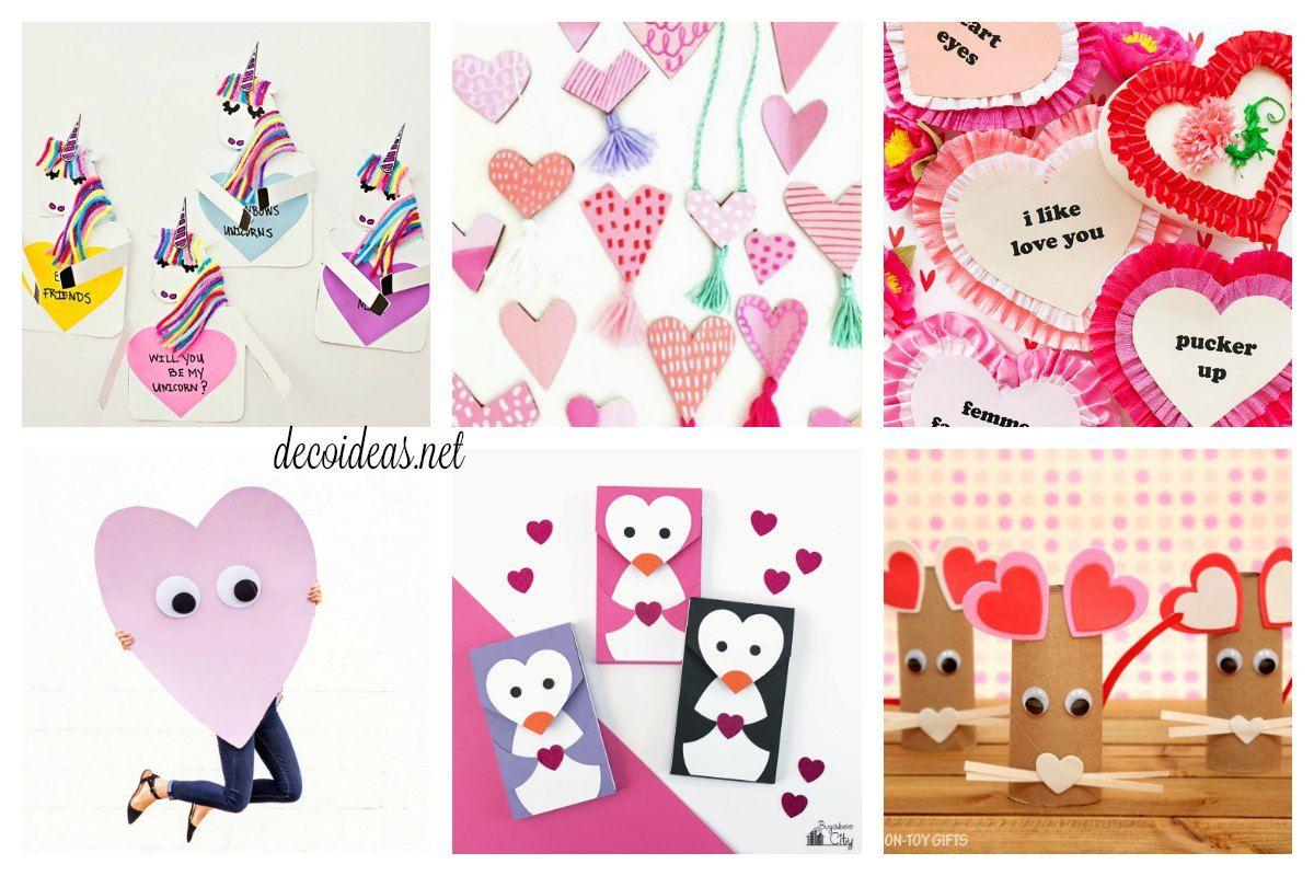 Las mejores manualidades de San Valentín para niños   Tipi, Dia de ...