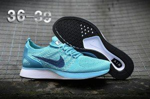 a584343287c4 Womens Nike Air Zoom Mariah Flyknit Racer Running Shoes Hyper Jade Blue  White