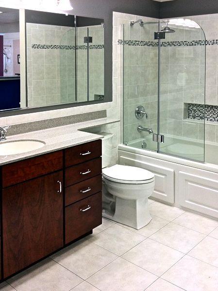 Timeless Eal Bathroom With Tile Accents Design Photo Gallery Maryland Northern Virginia Dc