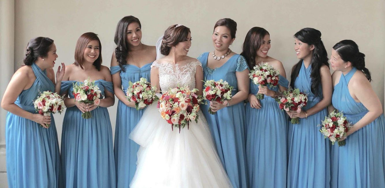 Dusty blue and deep red wedding | JACQS FLORAL | Pinterest | Deep ...